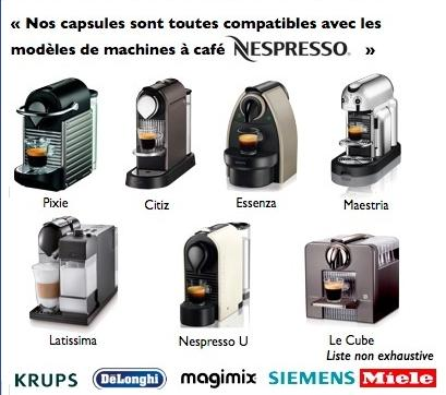 Capsule Coffeegone Compatible machine