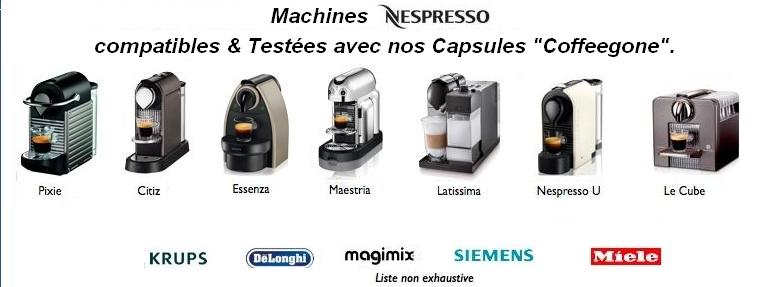 Machine compatible aux capsules